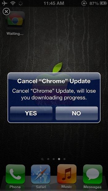 CancelUpdate App
