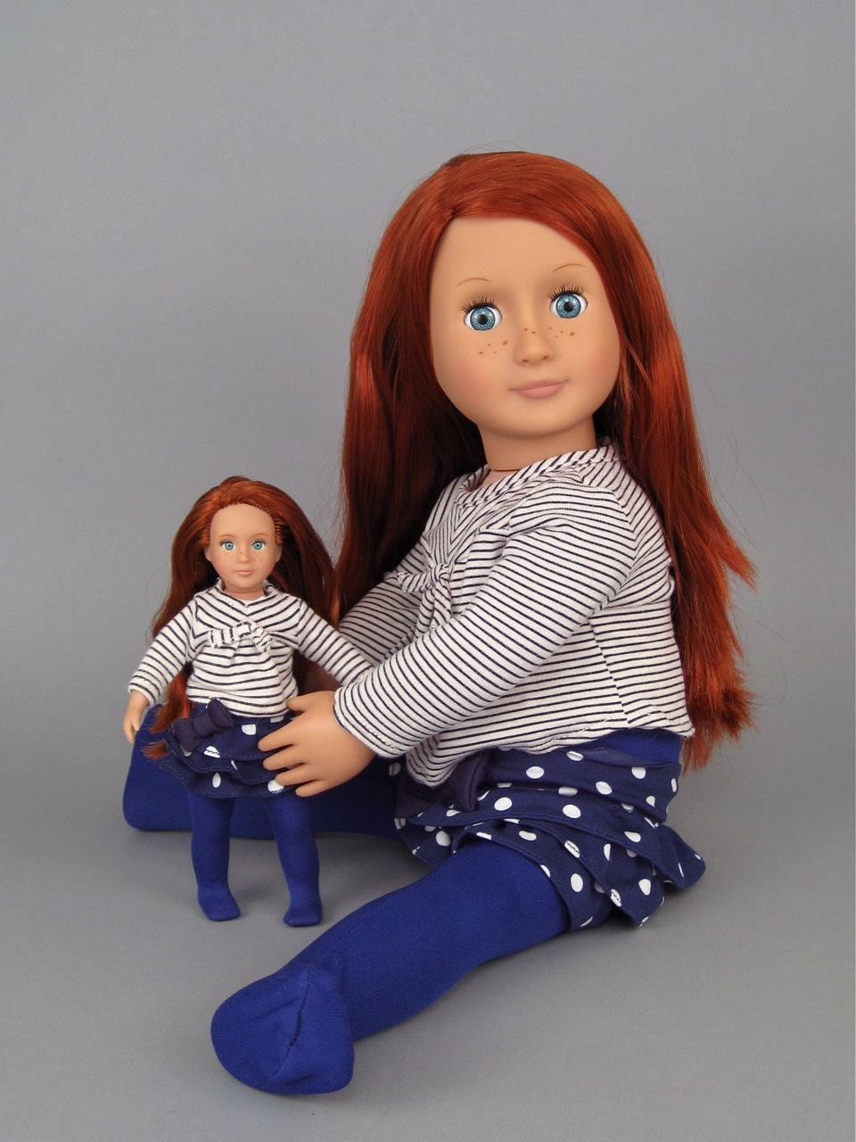 "Our Generation 7"" and 18"" Kendra dolls."