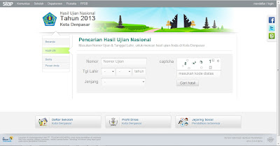 Screenshot web UNAS.siap-online