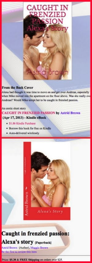 "BOOK NEWS ""CAUGHT IN FRENZIED PASSION"""