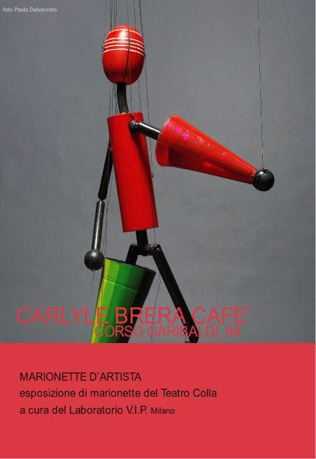 marionette d'artista al Carlyle Brera Hotel di Milano dal 25 febbraio 2014