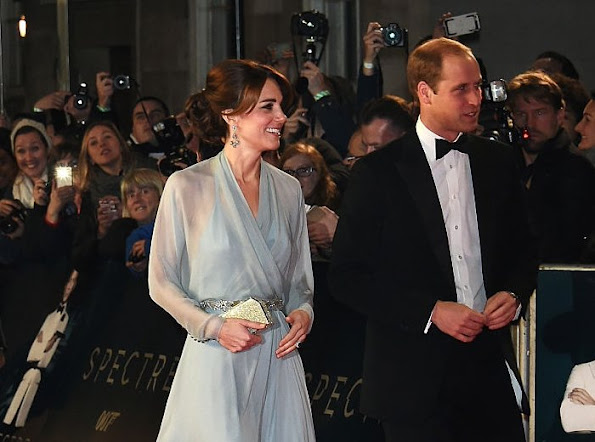 The Duchess of Cambridge attend Royal World Premiere of 'Spectre'