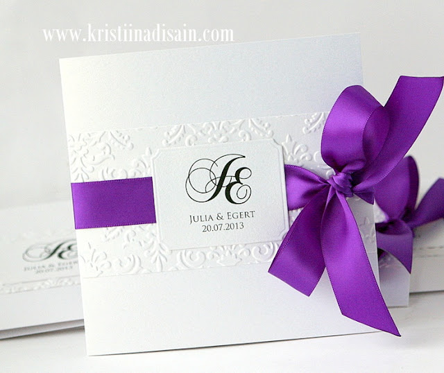 Purple Wedding Invitations Blue White