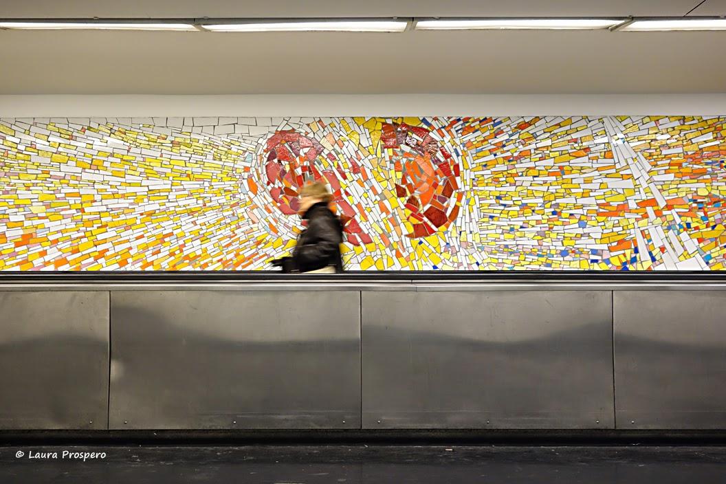 mosaïque de claude maréchal - cluny la sorbonne © Laura Prospero