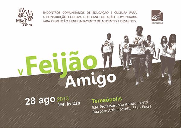 V  Feijão Amigo dia 28/08/13 na Escola Municipal João Adolfo Josetti na Posse em Teresópolis