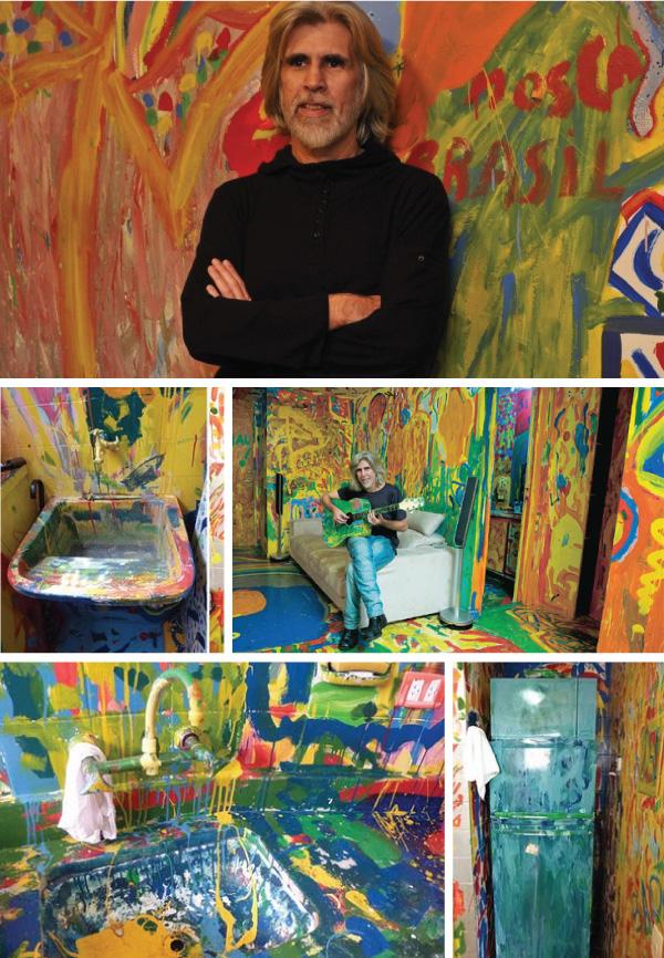 casa colorida de oswaldo montenegro - pintura maluca hospicio moderno musica mpb