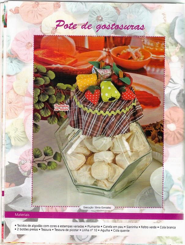 Frutinhas de tecido com moldes