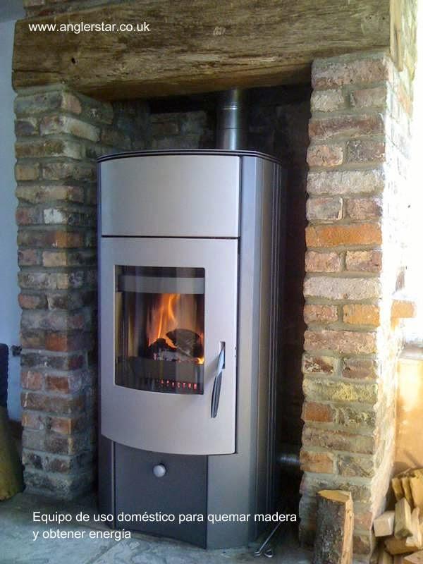 Caldera calefactor doméstico de biomasa