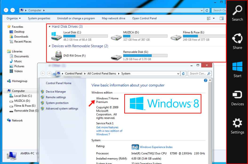 pack windows 8 pentru xp si windows 7