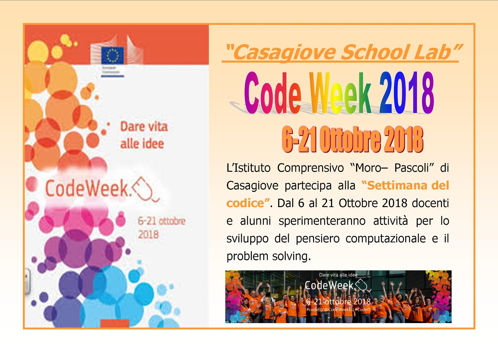 Casagiove School Lab- Codeweek 2018