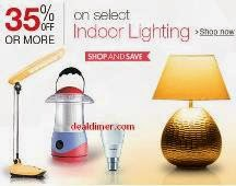 Indoor Lighting 35% off or more