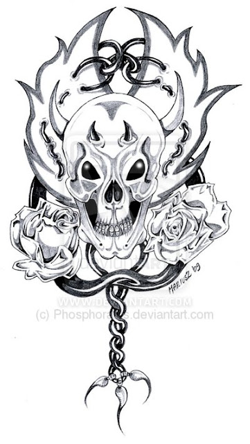 Design Tattoo Skull_n_roses