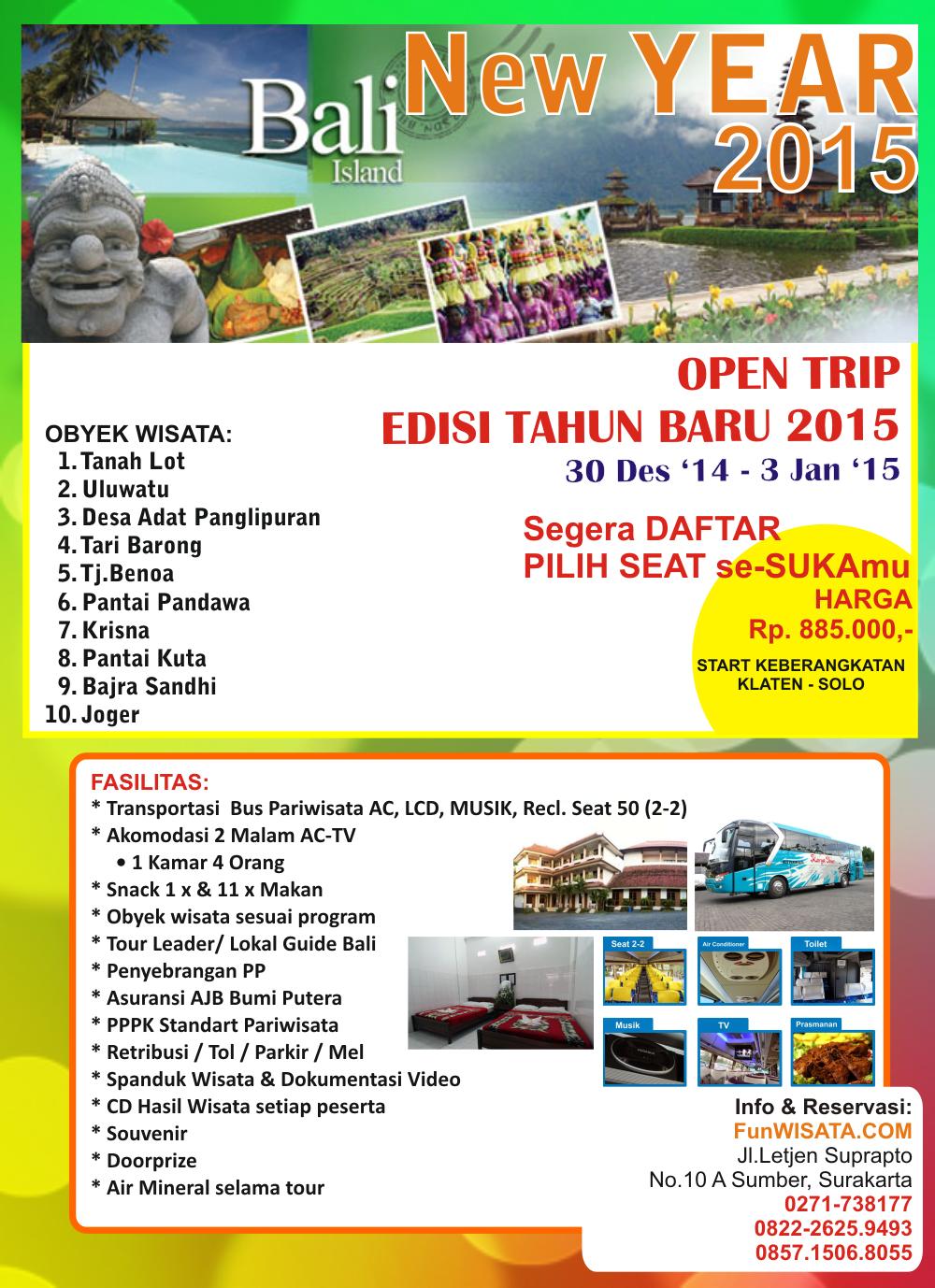 Wisata Ke Bali Tahun Baru 2015