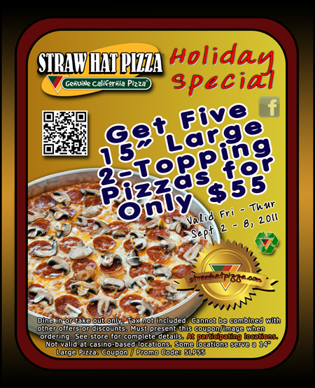 Straw Hat Pizza Coupons Redeem Coupon Code Free Fall Tournament