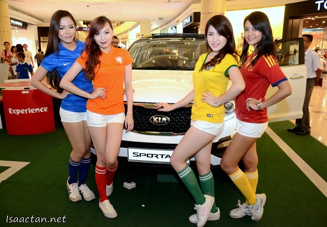 Kia Models, both the automobile and the ladies.