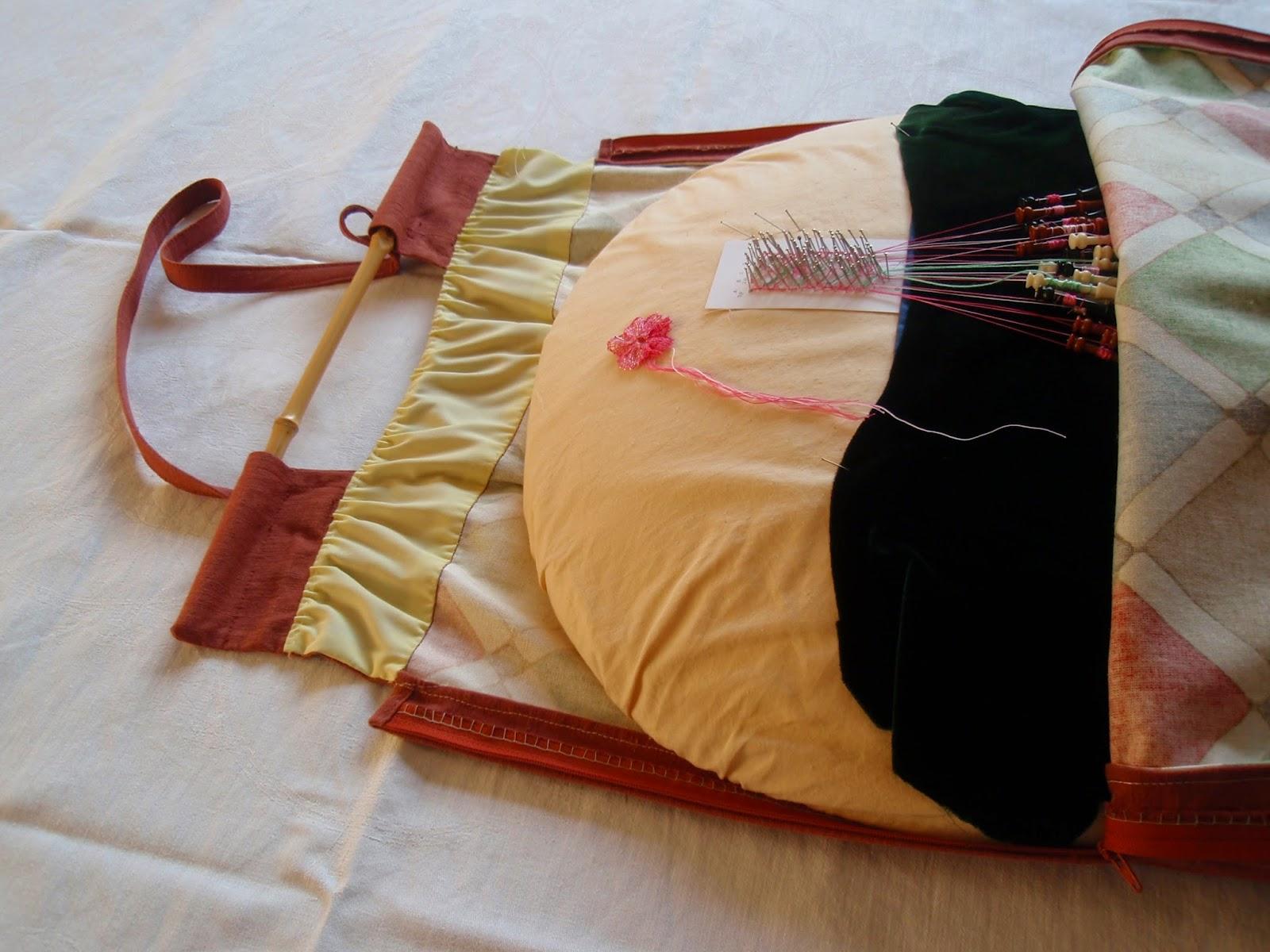 Bobbin lace and a bag