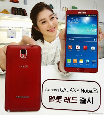 Galaxy Note 3 gets the new paint job in Korea, Merlot Red edition releases by the Samsung