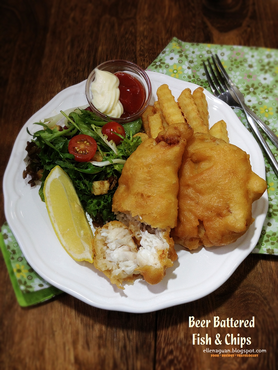 Cuisine paradise singapore food blog recipes reviews for Beer battered fish