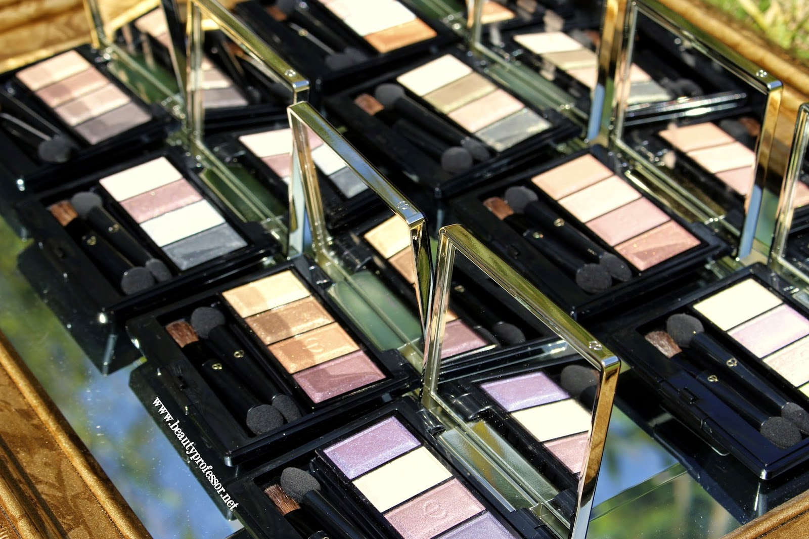 Cle de peau eye color quad swatches