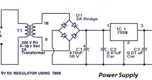 Phone Area  Circuit Diagram Of 9 Volt Regulated Power