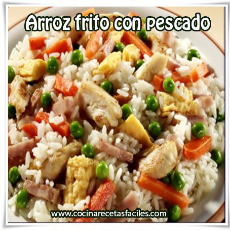 Recetas de arroz, , receta de arroz frito con pescado ,