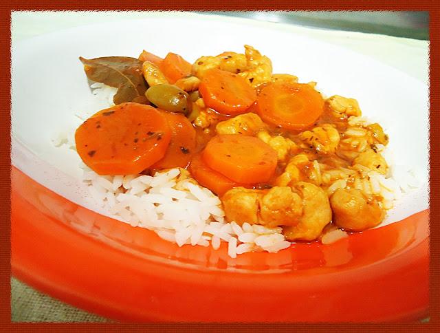 Guisado de frango com cenoura