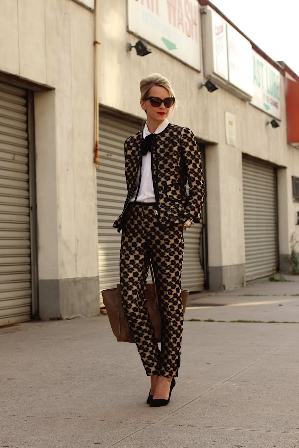 atlantic pacific valentino suit nyfw print pants celine