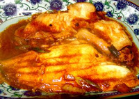 a simple Chinese fish recipe cook fish with soybean paste