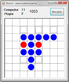 Reversi game in C# WinForms