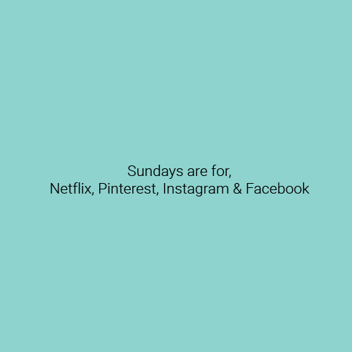 Lazy Sunday Netflix Instagram and Facebook
