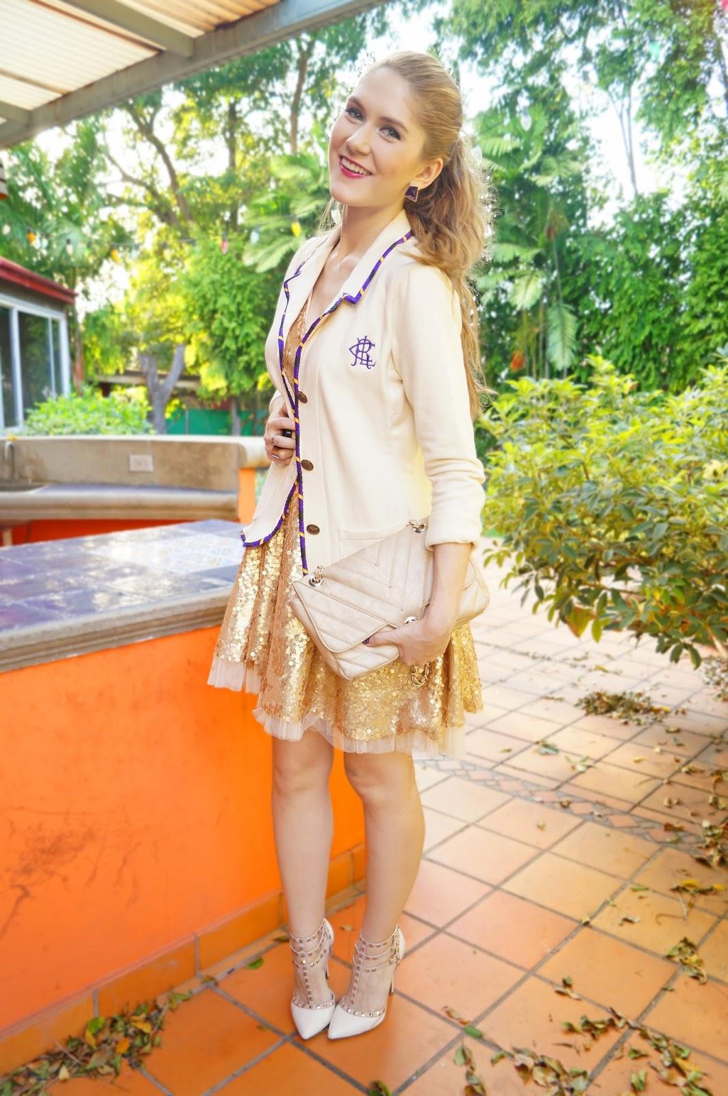 Dress down a sequin dress with a cute blazer!
