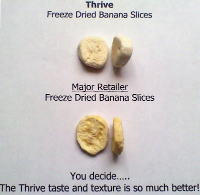 Shelf Reliance THRIVE Freeze Dried Banana Slices