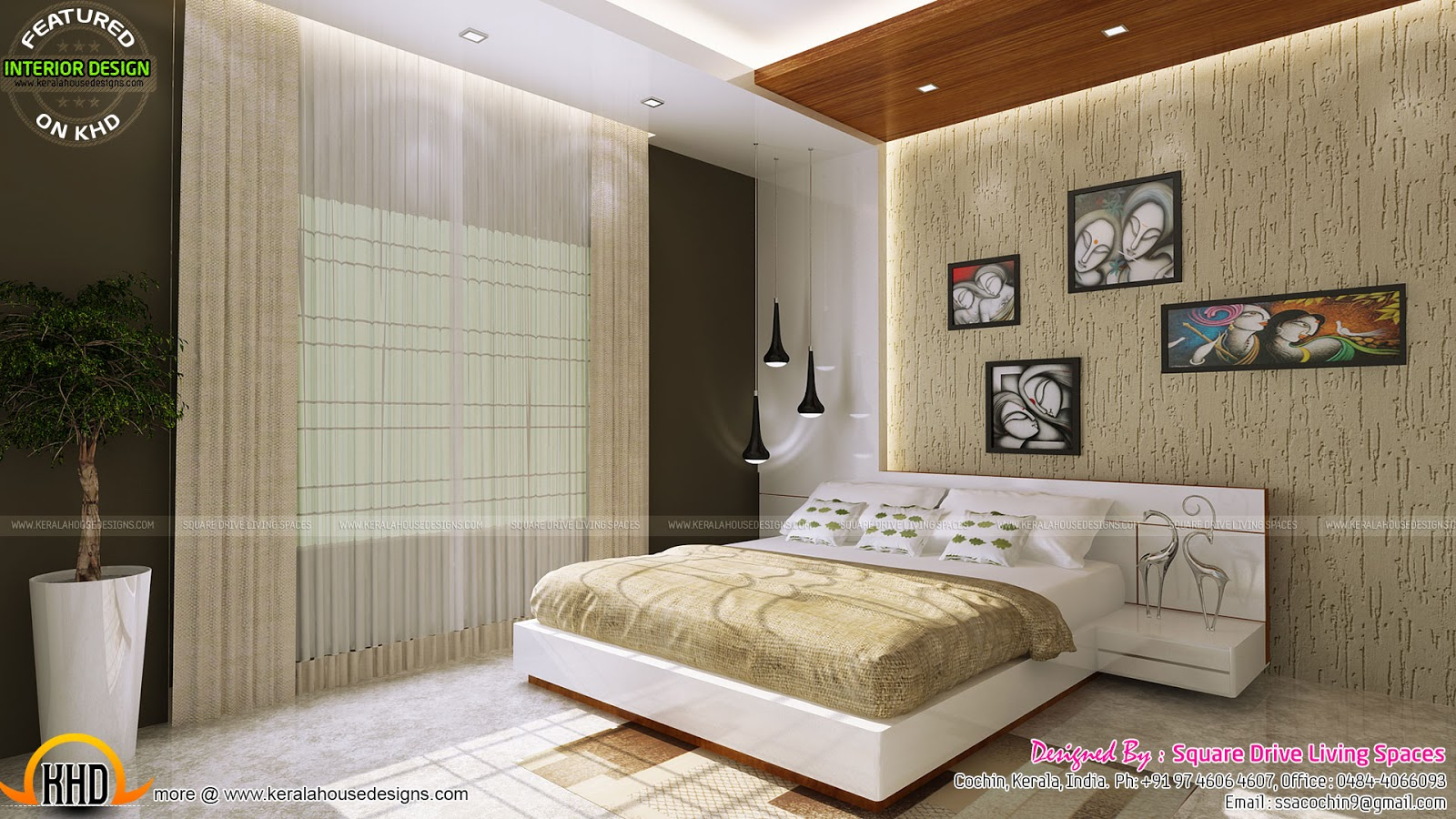 Excellent kerala interior design kerala home design and for Interior design styles bedroom