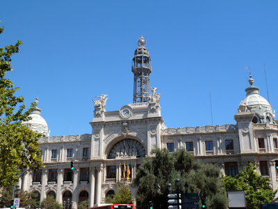 Valencia post office or correos in Plaza del Ayuntamiento