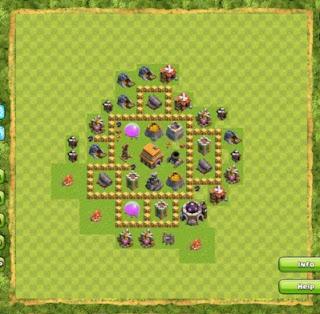 Bentuk Formasi Base Town Hall 5 Terbaik Dan Terkuat Clash of Clans