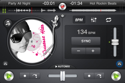 music mixing app djay for iphone gets updated to 1.2.2