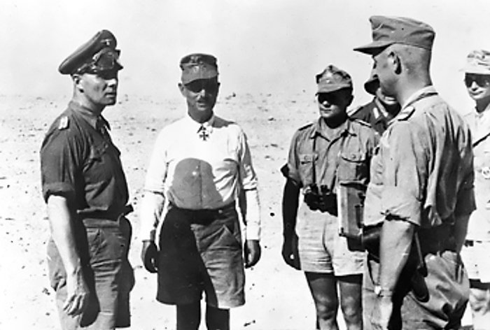 Rommel and his Staff in North Africa