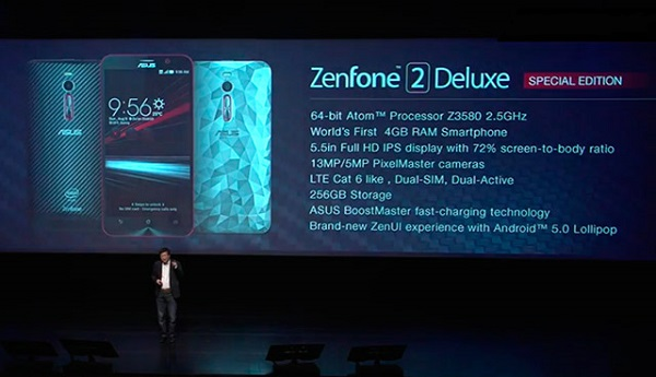 ASUS launches ZenFone 2 Deluxe Special Edition with 256GB of internal storage