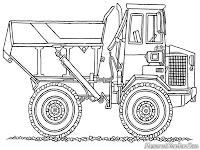 Mewarnai Gambar Mobil Dump Truck