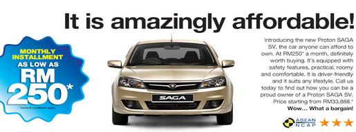 Informasi » Harga dan spesifikasi Proton Saga SV mampu milik 2013