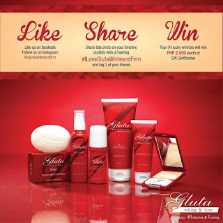 Win GC's worth Php2,500 from Gluta White & Firm Promo