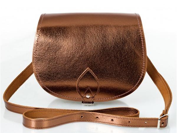 Zatchels bronze saddle bag