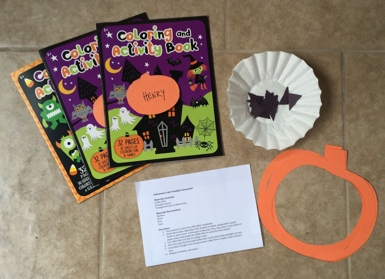 Kids halloween craft kits -  Jack O Lantern Faces And Instructions Detailing How To Make Window Sun Catchers I Also Sent Along Halloween Coloring Books And Crayons For The Kids