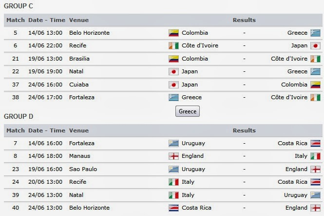 group schedule iran match