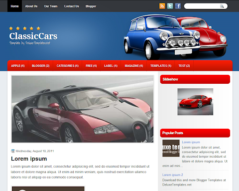 ClassicCars Blogger Theme