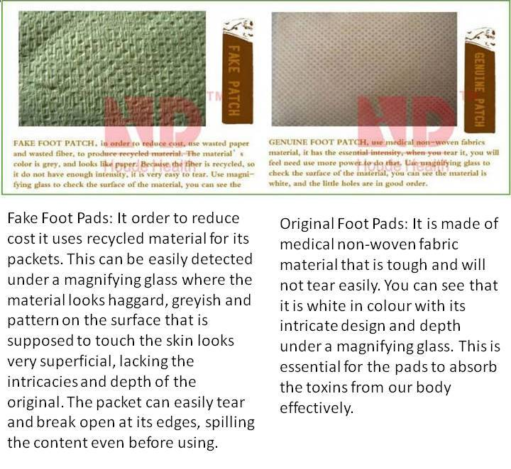 My Journey Foot Patch Fake Vs Original