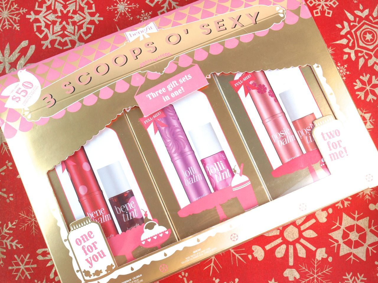 Benefit Cosmetics 3 Scoops O' Sexy Gift Set: Review and Swatches