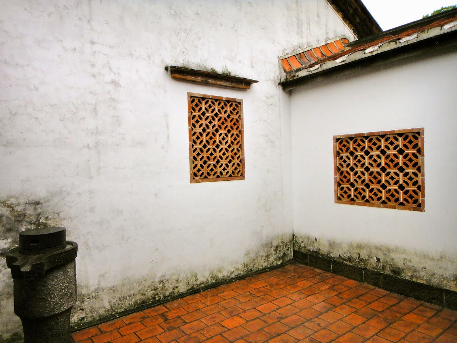 Corner Yard at Lin An Tai Ancestral House Yuanshan Taipei