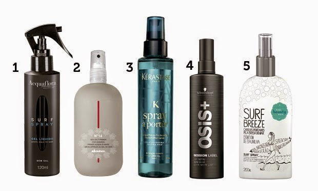 O cabelo de praia é fácil de fazer, você precisa de secador e de um bom surf spray