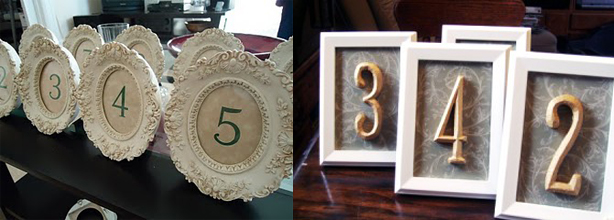 Tahoe Wedding Collection: DIY Table Numbers